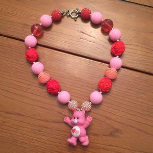 Other - Tender heart bear Carebear bubble necklace